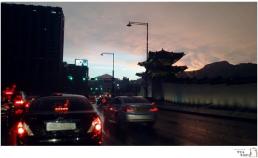 8월 비오던 광화문 풍경 썸네일 사진