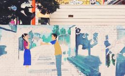 벽화 작업 중 썸네일 사진